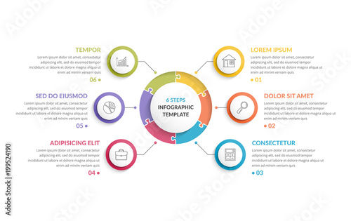Canvas Circle Infographics - Six Elements
