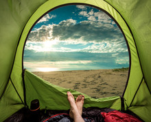 Camping On The Beach In Summer...