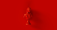 Red Bust Sculpture 3d Illustra...