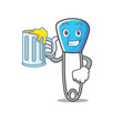 Juice safety pin mascot cartoon