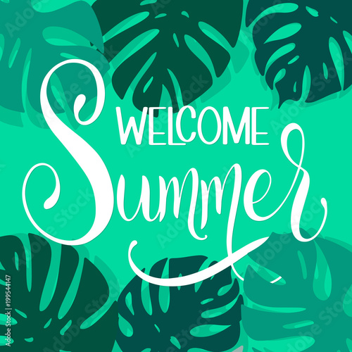 Welcome Summer Lettering Elements For Invitations Posters Greeting Cards Seasons Greetings Buy This Stock Vector And Explore Similar Vectors At Adobe Stock Adobe Stock
