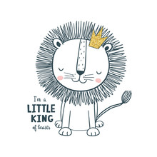 Little King. Vector Illustrati...