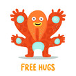 Funny Hugging Monster Card