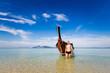Tourist on Koh Kradan island