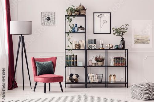 Fototapeta Bookshelf in living room