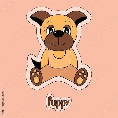 Cute Puppy Dog Cartoon Sticker Funny Animal Child S Drawing