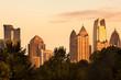 Midtown skyline from Piedmont Park, Atlanta, Georgia, USA