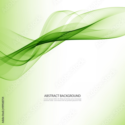 Abstract Green Wavy Colorful Vector Green Wave Background
