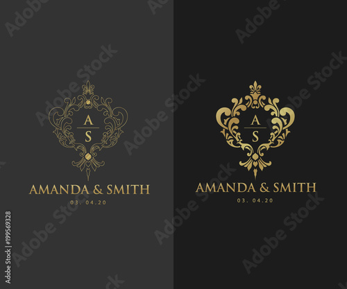 Wedding Logo Template Luxury Icons For Fashion Brand