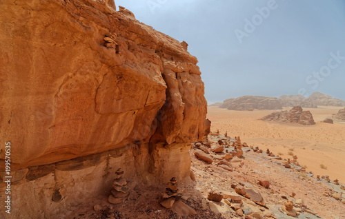 Photographie  Composite panorama of high resolution aerial photos of a monolithic mountain in