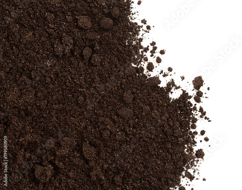 Cuadros en Lienzo  Soil or dirt crop isolated on white