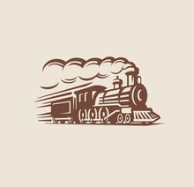 Retro Train, Vintage Emblem