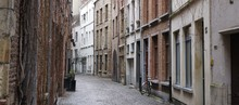 Street In The Old Center Of Antwerp, Belgium.