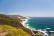 Rolling Hills and Waves Crashing on a Sandy California Beach
