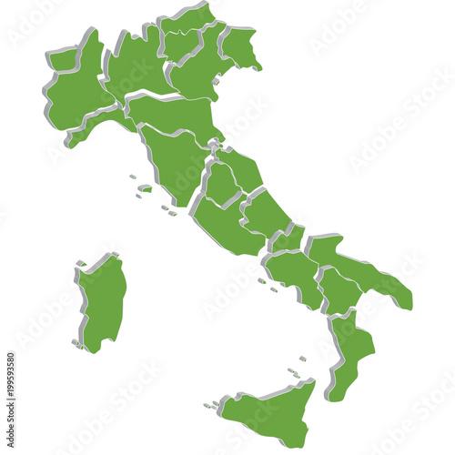 Fototapeta italia mappa delle regioni obraz