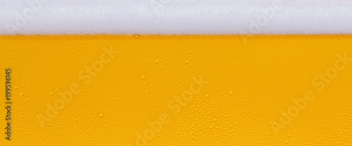 Fotobehang Bier / Cider Drops of water on a glass of beer. Background, Texture, banner size