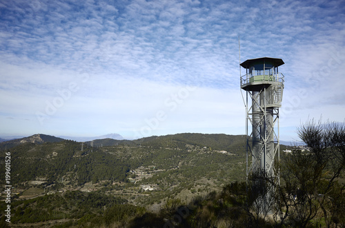 Fotografia, Obraz Watchtower in a forest near to Barcelone