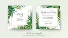 Wedding Floral Double Invite C...