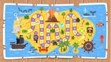 kids pirate board game template
