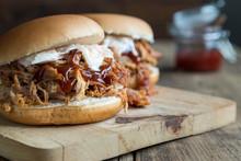 Homemade Pulled Pork Burger Wi...