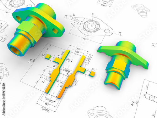 Photo CAD engineering - Finite element analysis