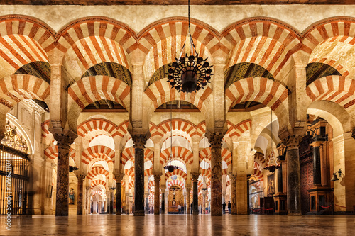 Inside the Mezquita, Cordoba, Spain
