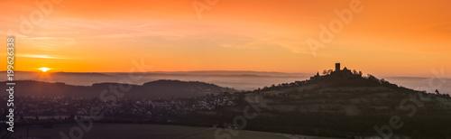 Gris traffic Gleiberger Land im Sonnenaufgang