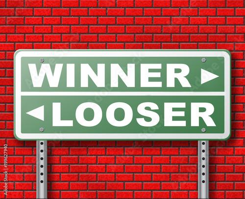 Fotografie, Obraz  winner or looser