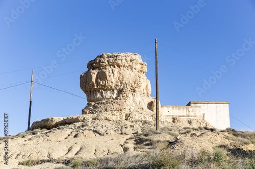 фотография  ruins of La Peñota (castle) tower of Aguilar de Montuenga village, Province of S