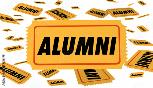 Alumni School Graduate Ticket Special Pass 3d Illustration Canvas Print