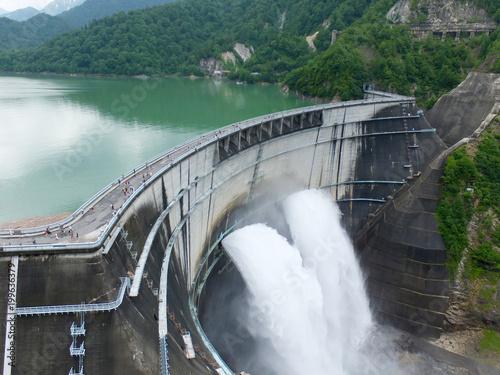 Deurstickers Dam 黒部第四ダム