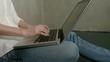 Freelancer female use laptop at house