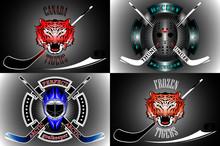 Hockey Players Goalkeeper Logo...