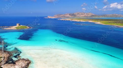 Luftaufnahme Stintino La Pelosa Strand Sardinien