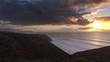 Beatiful landscape with sunset in Atlantic ocean, Morocco coast, Africa, 4k