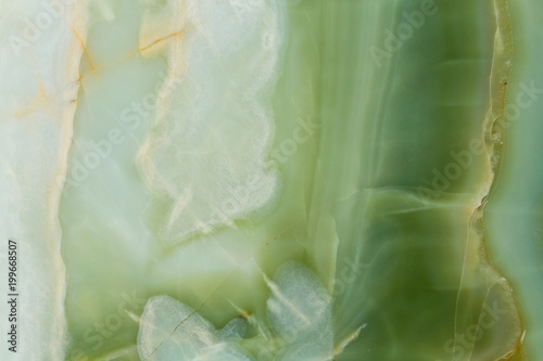 Poster Marble Soft onyx texture in gentle green colour.