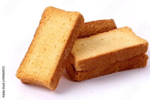 Fotografiet crispy rusk, cake rusk