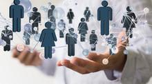 Network -  Businessman Holding...