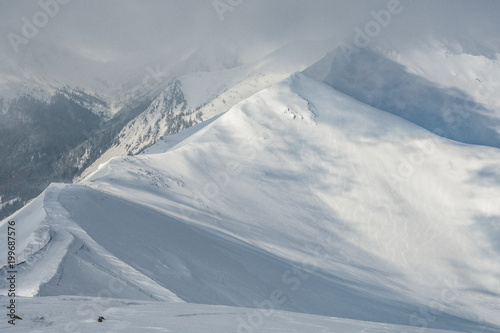Tuinposter Donkergrijs Kasprowy wierch High Tatras