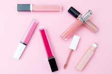 Lip Gloss On A Pink Background...