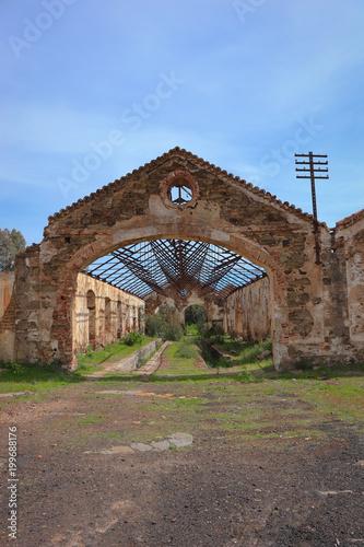 Staande foto Industrial geb. Old industrial building abandoned