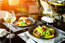 Romantic Dinner At A Restauran...
