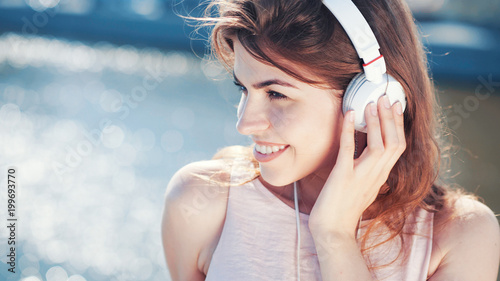 Other Beautiful girl with headphones