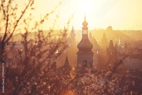 Spring sunrise in Prague Canvas Print