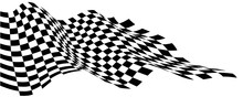 Checkered Flag Wave Flying On ...