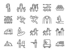 Refugee Icon Set. Included The...