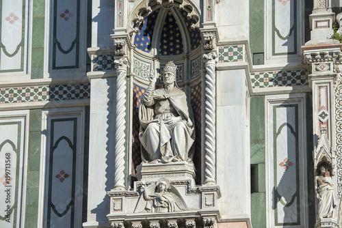 Fotografie, Obraz  fragment of the facade of cathedral Santa Maria del Fiore (Duomo), Florence, Ita
