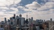 Modern City Skyline Downtown Toronto Clouds