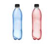 dwie butelki z wodą