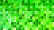 Green mosaic rectangle background - modern vector graphic design from gradient rectangles